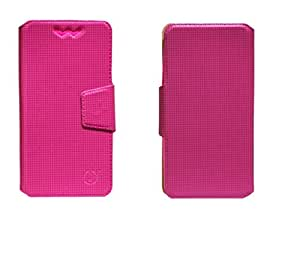 J Cover Reba Series Leather Pouch Flip Case With Silicon Holder For LG Optimus L9 II Pink