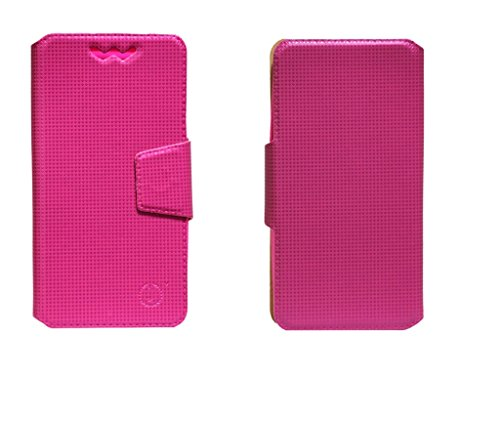 J Cover Reba Series Leather Pouch Flip Case With Silicon Holder For Intex Aqua N4 Pink  available at amazon for Rs.490