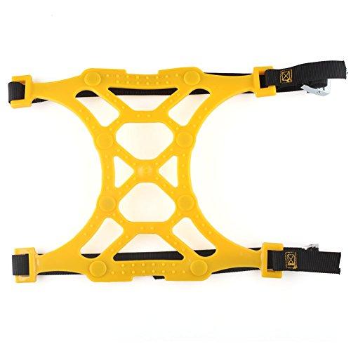 Schneeketten,Anti Skid Nail Auto Snow Tire Ketten,Universal Schneereifenketten Anti Rutsch Kette Für Auto SUV LKW mit 165 mm-285 mm Reifen Breite,Einfach zu Installieren Schneekette Gelb