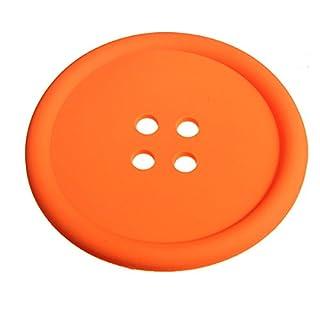 Aliciashouse Silicone Button Placemat Coaster Coffee Cup Mug -orange