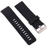 Wenquan,Pulsera con Hebilla de Correa de Banda de Silicona de 24 mm para Reloj Inteligente Fitbit Blaze(Color:Negro)
