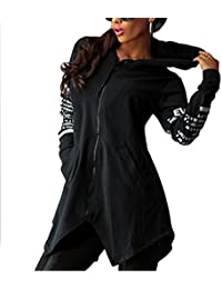 CRAVOG Mujer Sudadera con Capucha de Moda Jersey de Manga Largas Casual Chaqueta Abrigo