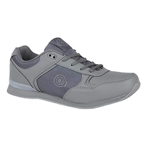 Dek Jack Bowlingschuhe, mit Schnürsenkel, Sportschuhe, in Weiß/Grau, für Herren, Grau - Grey PU/Textile - Größe: 44