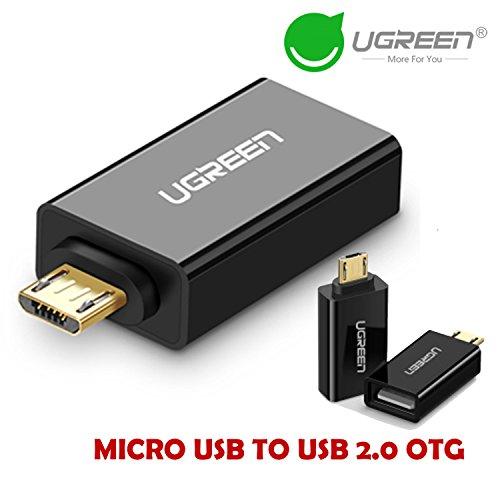 Galleria fotografica Ugreen Micro USB OTG adattatore maschio a USB 2.0 Micro Adapter Converter per Samsung Xiaomi LG Huawei Android Smartphone Tablet .. Nero