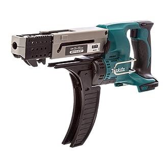 Makita DFR550Z Magazinschrauber 25-55mm 18 V (ohne Akku, ohne Ladegerät), 180 W, Schwarz, Grün