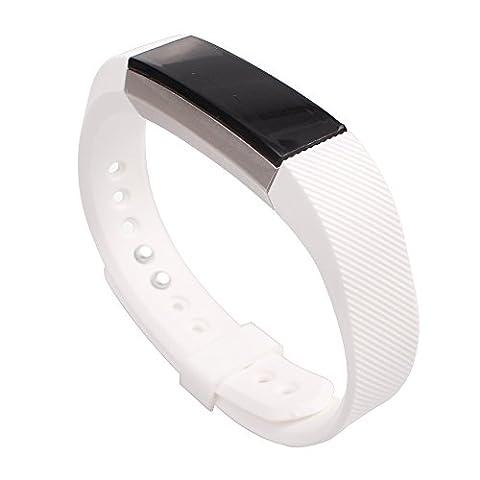 Alxcio Ersatzarmband Für Fitbit Alta, TPU Einstellbare Armband Sport-Uhrenarmband Ersatzschweißband