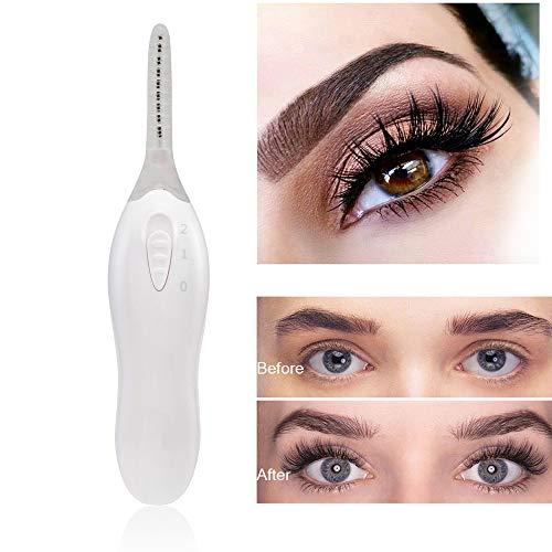 Wimpernzange, elektrische verbesserte tragbare beheizte automatische Wimpernzangen mit LED-Licht Eye Curlers (WHITE)