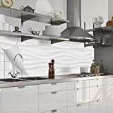 Myspotti - Küchenrückwand Fixy Ashley Hart-PVC 0,4 mm selbstklebend Spritzschutz-Folie für die Küche in Premium-Qualität (280 x 60 cm)