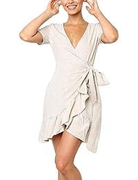 ESAILQ-Vestido para Mujer, Vestidos Mujer Casual Verano 2018 Boho Vestidos Cortos Mujer Verano