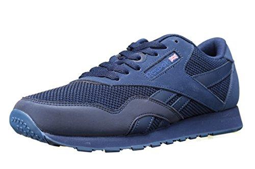 Reebok Classic Nylon Tech Mix, Sneakers Basses Homme Bleu