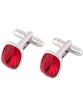 Swarovski Elements Roten Kristall Manschettenknöpfe