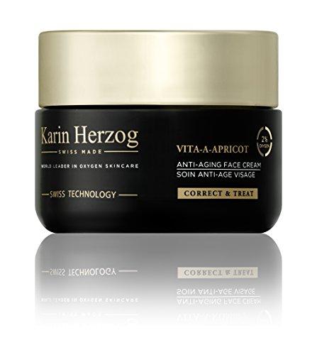Karin Herzog Vita-A-Apricot Anti-Falten Creme gegen sehr trockene Haut, 50 ml (Sauerstoff-nachtcreme)