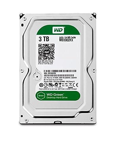 Western Digital WD30EZRX 3TB interne Festplatte (8,9 cm (3,5 Zoll), 5400 rpm, 2ms, 64MB Cache, SATA III) grün oder blau - Auswahl ist nicht