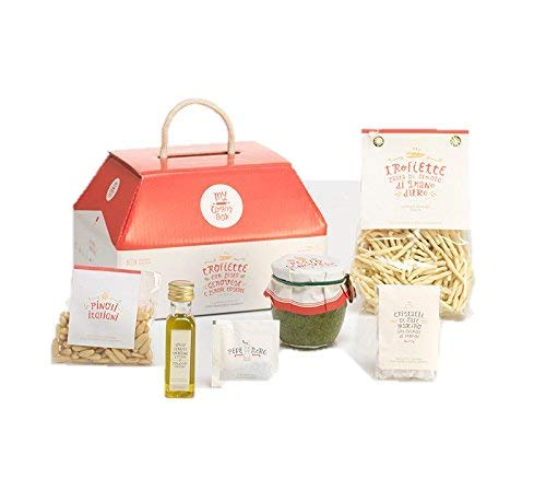 LA CENA LIGURE di My Cooking Box x2 porzioni Trofiette al pesto - Regalo cesto