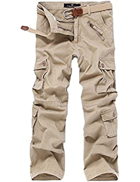 Hombre Pantalon Cargo Pants Camuflaje Pantalones Múltiples Bolsillos Casuales Work Trousers
