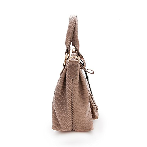 Zerimar Damen-Umhängetaschen | 100% Lederqualität | Handtasche für Frauen | Grosse Handtasche | Klein Handtasche Maßnahmen: 25x21x11 Taupe