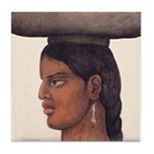 CafePress-Diego RIVERA Femme avec panier Art-pour carrelage Dessous de Verre, dessous de boisson, petite Dessous de Plat - Diego Rivera, Mexikanischer Künstler