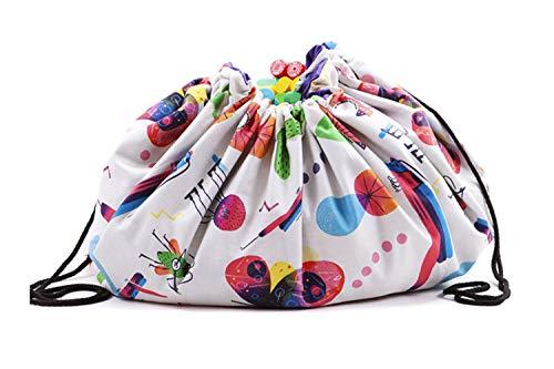 Saco recoge juguetes Manta organizador alfombra con cuerdas lavable resistente Varios Modelos Fabricado en España (BUGS PARTY)