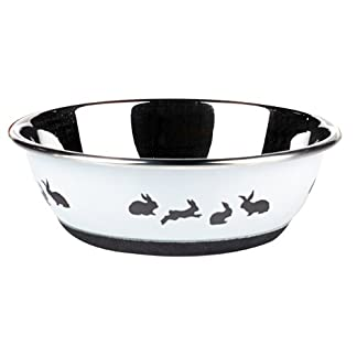 Classic Pet Products Classic Posh Paws Bunny Dish, 350 ml, White 11