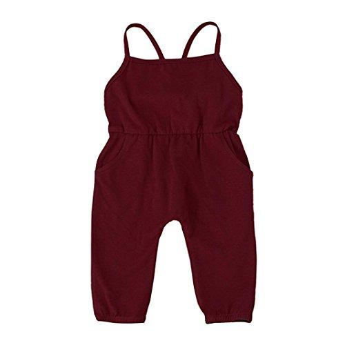 Hose Kleinkind Overall Säugling Baby Spielanzug Kleider Outfits_Hirolan (80cm, Wein) (Make-up Und Haar-ideen Für Halloween)