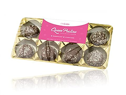 Queen Low-Carb Pralinen | Gymqueen | Made in Germany | kalorienarm | Protein-Snack | 80g (Cookies &