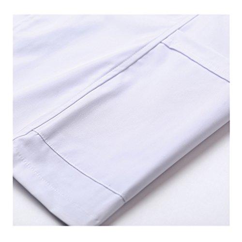 shane&shaina Kurzarm kurze abschnitt kittel ärzte krankenschwestern bekleidung arbeitskleidung arbeit (damen, XL) - 5