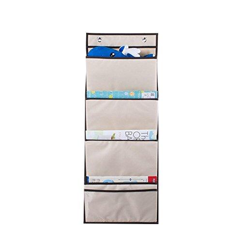Bolsa de almacenamiento colgante bolsa de almacenamiento de pared colgar pared multifuncional Office carpeta Carlos Divers Aseo nécessités Quotidiennes bolsa con cuerda–fancylande, beige