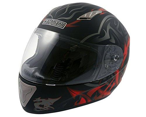 WACHMANN WA-10 ViriFortis rot/schwarz matt Integralhelm, Rollerhelm, Motorradhelm [Größe M]