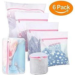 BoxLegend Sacs en Tissu pour la lessive - Paquet de 5 (1XL+ 1L + 2M+cylindrique*2) réutilisation, Sac de Machine à Laver résistant pour Blouse, Bas, Dessous, Soutien-Gorge, Lingerie