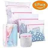 BoxLegend Wäschenetze Wäschebeutel Wäschesack für Waschmaschine 6 Stück Haltbarer Netz-Wäschebeutel mit Reißverschluss für Feinwäsche Unterwäsche Feines und Socken