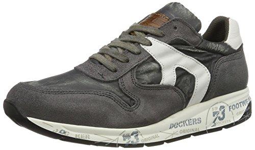 Dockers by Gerli Herren 40br001-207225 Low-Top Grau (dunkelgrau/weiss 225)