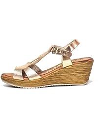 Sandalia piel Oh! my Sandals 3664 Metalizado nude