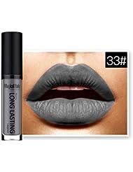 Fulltime 20 Couleurs Rouge à lèvres liquide mat imperméable à lèvres Gloss longue durée (33#)