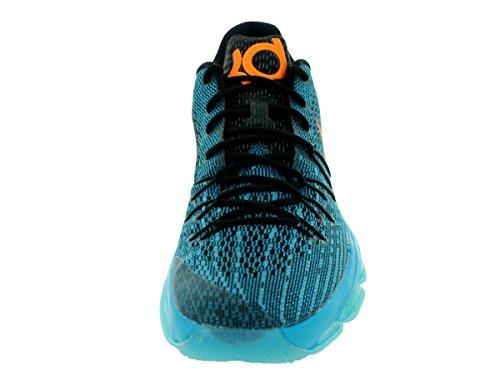 Nike KD 8, Scarpe da Basket Uomo, Talla Multicolore (Azul / Gris / Naranja (Bl Lgn / Brght Ctrs-Blk-Td Pl Bl))