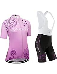 [Cojín 3D][c27 tamaño:XL] maillot chaleco los mujer de Jerseys manga transpirable rompevientos corta para ciclismo ropa rendimiento