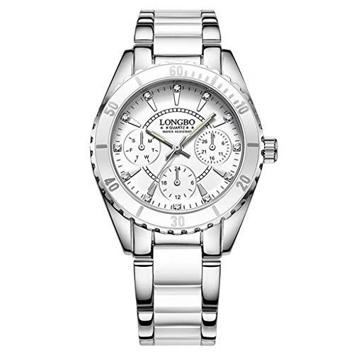 Pteng Damen Wasserdicht Uhr Frau Minimalism Rosa Weiß Edelstahl Mesh Armbanduhr Mann Sport Modisch Chronographen Design Ultra Dünne Einfach Analog Uhren