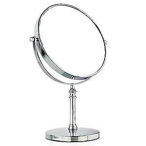 Beddingleer miroir de loupe double face de vanit de 8 pouces grossissement de 1 x et 10 x for Miroir loupe