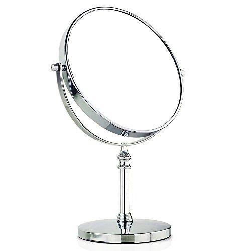 Beddingleer Kosmetikspiegel Vergrößerungsspiegel Rasierspiegel 8-Inch Doppelseitig 1X und 10 fach Vergrößerung Kosmetikspiegel