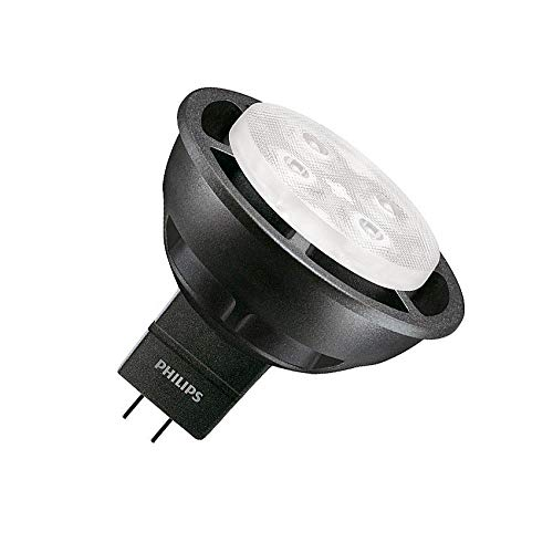 Lámpara LED GU5.3 MR16 Regulable PHILIPS Master 12V SpotLV VLE 6.3W 36º Black Blanco Neutro 4000K efectoLED