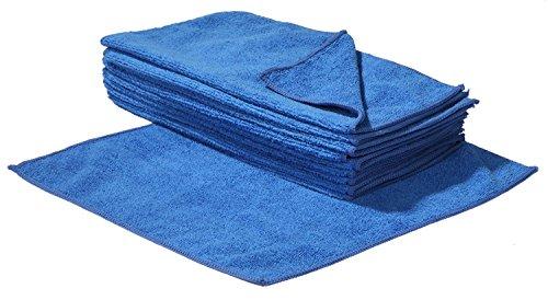 Preisvergleich Produktbild 10 Stück Mikrofasertücher 30 x 30 cm blau - Reinigungstücher für Haushalt Auto & Motorrad Pflege Microfasertuch Putztuch