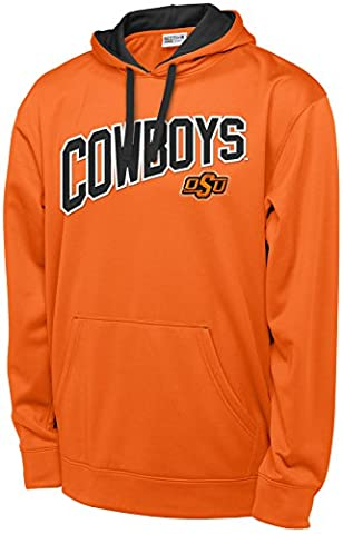 NCAA Oklahoma State Cowboys Long Sleeve Pullover Hood, Large, Orange