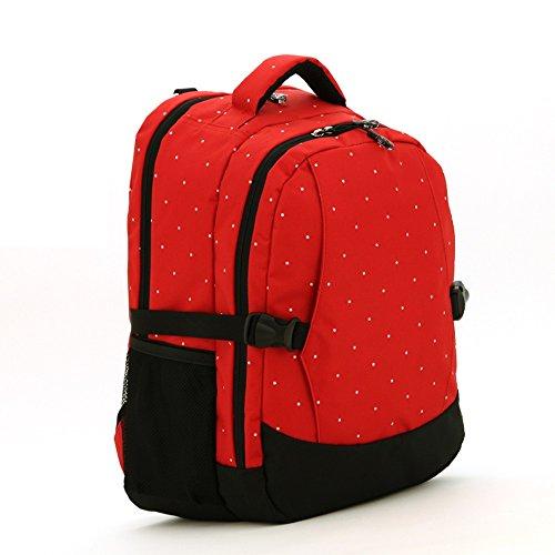 Multifunktionale Großraum-Mama-Tasche, Schultern aus dem Paket, Mutter-Paket, Mode Mutter Tasche, Mutter Baby-Tasche ( Farbe : Schwarz ) Rot
