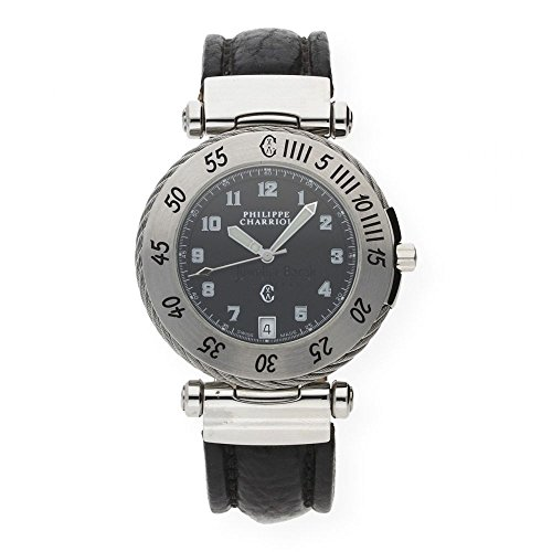 Charriol Men's Bracelet Stainless Steel 04579684 Leather Watch Strap
