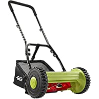 Manual Garden Lawnmower Hand Push Mower Grass Cutter with 17L Collection Bag for Waste