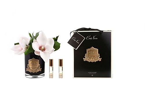 Preisvergleich Produktbild Cote Noire Pink Magnolia ist in einer schwarzen Glasvase - Pink