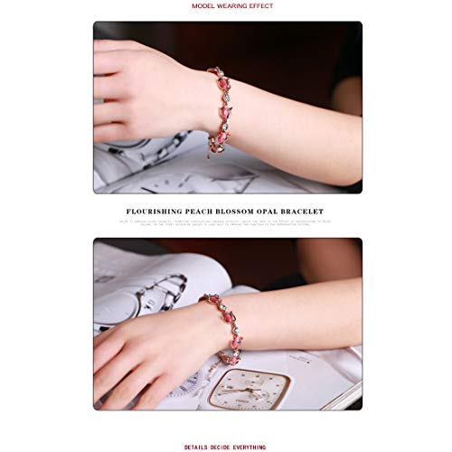 Jewels Galaxy Exquisite AD Rose Design Fashion Bracelet for Women/Girls