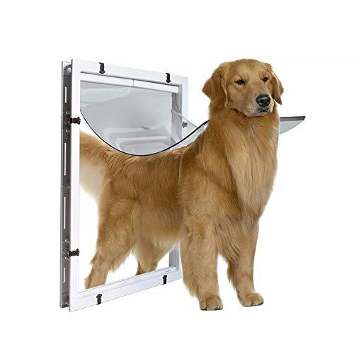 XDYFF Haustierklappe extrem wetterfest EIN einfacher großer Hundestift Wird für den EIN- und Ausgang großer Hunde in der Haustür installiert