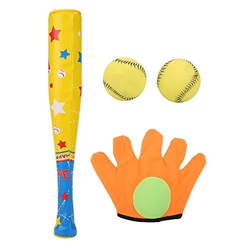 TOPINCN Sport Baseball Spielzeug Weichem Kunststoff Umweltfreundliche Baseballschläger Ball Handschuh Set für Kinder Kinder Geschenke Geburtstag Urlaub 4 STÜCKE