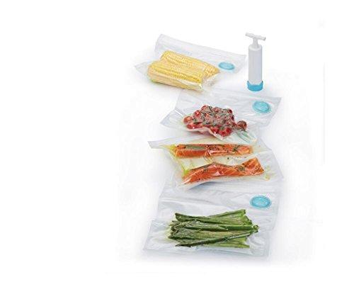 Aoligei Kitchen Craft Kunststoff Lebensmittel Staubsaugerbeutel und Pumpe Set pcs5