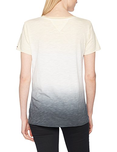 Tommy Jeans Damen T-Shirt Weiß (Snow WHITE/MULTI 901)